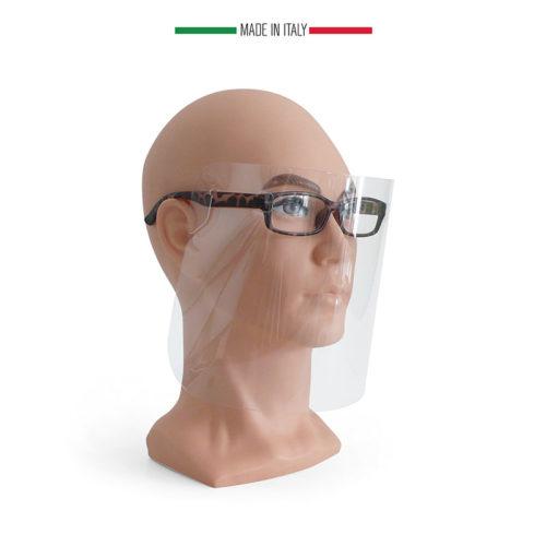 maschera protettiva a occhiali